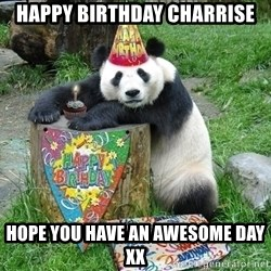 Happy Birthday Panda - Happy BIrthday Charrise Hope you have an awesome day xx