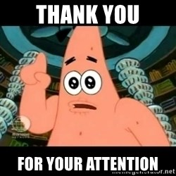 ugly barnacle patrick - Thank You For your Attention
