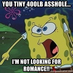 Screaming Spongebob - You tiny 400lb asshole... I'm not looking for romance!!
