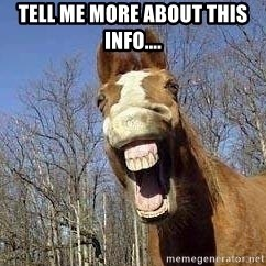 Horse - Tell me more about this info....