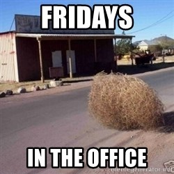 Tumbleweed - fridays in the office