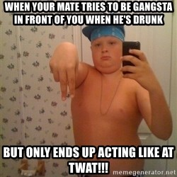 Cookie Gangster - When your mate tries to be gangsta in front of you when he's drunk  But only ends up acting like at TWAt!!!