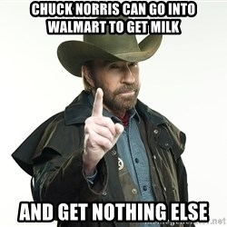 chuck norris cowboy hat - Chuck Norris can go into Walmart to get milk And get nothing else