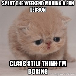 Super Sad Cat - spent the weekend making a fun lesson class still think i'm boring