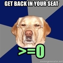 Racist Dog - GET BACK IN YOUR SEAT >=O