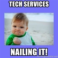 Baby fist - Tech Services Nailing It!
