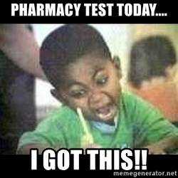 Black kid coloring - PharmacY test today.... I got tHis!!