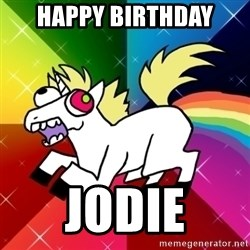 Lovely Derpy RP Unicorn - Happy Birthday Jodie