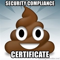 Facebook :poop: emoticon - SECURITY cOMPLIANCE CERTIFICATE