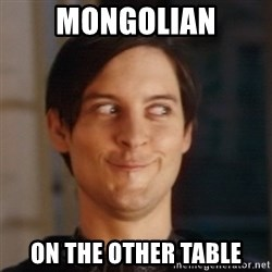 Peter Parker Spider Man - Mongolian On the other table