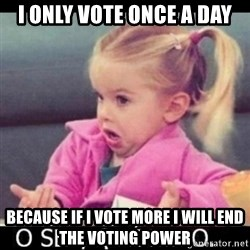 O SEA,QUÉ PEDO MEM - I ONLY VOTE ONCE A DAY Because if I vote more I will end the voting power