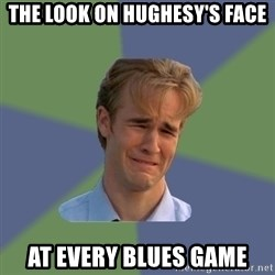 Sad Face Guy - The look on Hughesy's face At every blues game