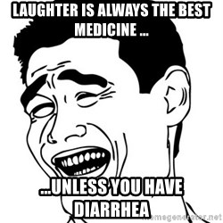 Yao Ming - laughter is always the best medicine ... ...unless you have diarrhea
