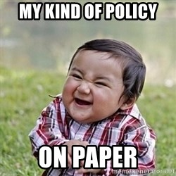 Niño Malvado - Evil Toddler - My Kind of Policy ON Paper