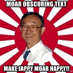 Crazy Perverted Japanese Businessman - moar obscuring text make jappy moar happy!!