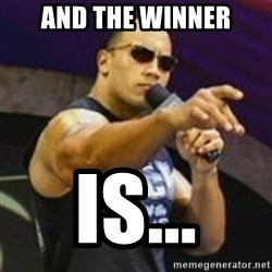 Dwayne 'The Rock' Johnson - AND the winner is...