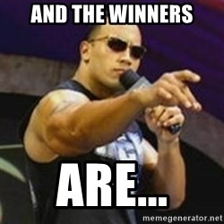 Dwayne 'The Rock' Johnson - And the winners are...