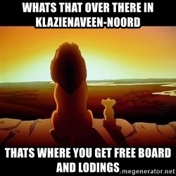 Simba - Whats that over there in klazienaveen-noord Thats where you get free board and lodings