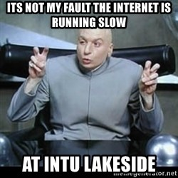 dr. evil quotation marks - Its not my fault the internet is running slow at intu lakeside