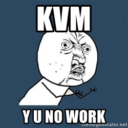 y u no work - KVM y u no work