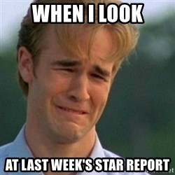 Crying Dawson - When I look at last week's star report