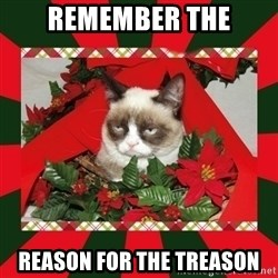 GRUMPY CAT ON CHRISTMAS - Remember the reason for the treason