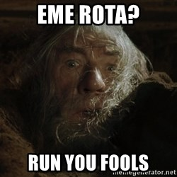 gandalf run you fools closeup - Eme rota? run you fools