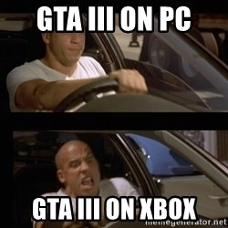 Vin Diesel Car - GTA III on PC GTA III ON XBOX