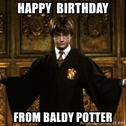 Harry Potter Come At Me Bro - Happy  birthday from baldy potter