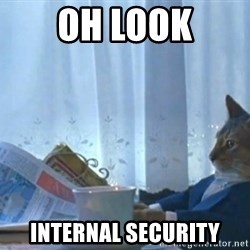 Sophisticated Cat - Oh look internal security