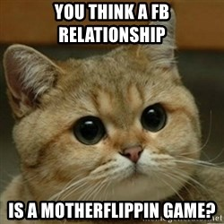 Do you think this is a motherfucking game? - You think a fb relationship Is a motherflippin game?