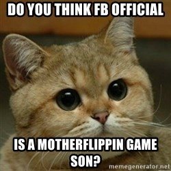 Do you think this is a motherfucking game? - Do you think fb Official Is a motherflippin Game son?