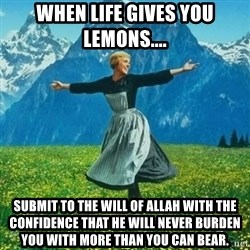 Julie Andrews looking for a fuck to give - When life Gives you lemons.... Submit to the will of Allah with the confidence that he will Never burden you with more than you can beaR.