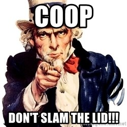Uncle Sam Point - Coop Don't slam the Lid!!!