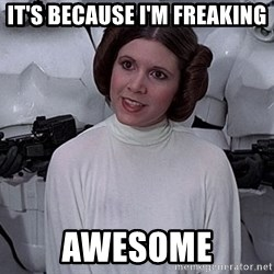 princess leia - it's because i'm freaking awesome
