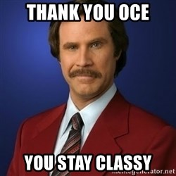 Anchorman Birthday - thank you oce you stay classy