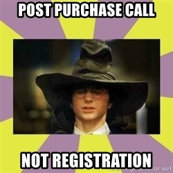 Harry Potter Sorting Hat - Post Purchase Call Not registration