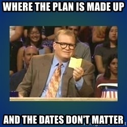 drew carey - where the plan is made up and the dates don't matter