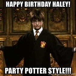 Harry Potter Come At Me Bro - Happy Birthday Haley! Party Potter StYle!!!