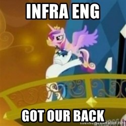 Shining Armor throwing Cadence - infra eng got our back