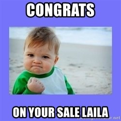 Baby fist - Congrats on your sale laila