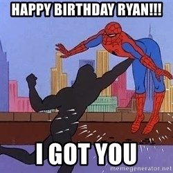 crotch punch spiderman - Happy birthday ryan!!! I got you