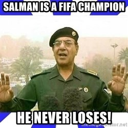 Comical Ali - Salman is a fifa ChampiOn He never loses!