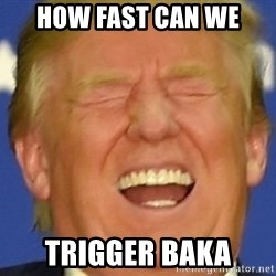 DJT eat shit - HOW FAST CAN WE TRIGGER BAKA