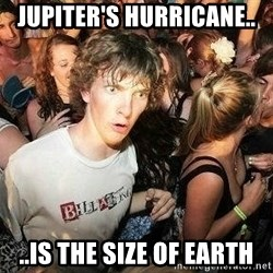 -Sudden Clarity Clarence - Jupiter's hurricane.. ..is the size of earth