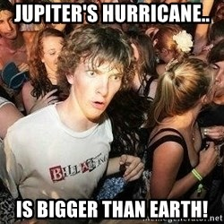 -Sudden Clarity Clarence - Jupiter's hurricane.. is bigger than earth!
