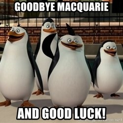 Madagascar Penguin - Goodbye macquarie and good luck!