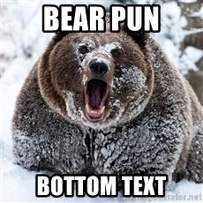 Cocaine Bear - BEAR PUN BOTTOM TEXT