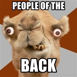 Crazy Camel lol - people of the back