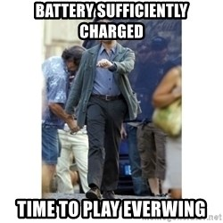 Leonardo DiCaprio Walking - battery sufficiently charged time to play everwing